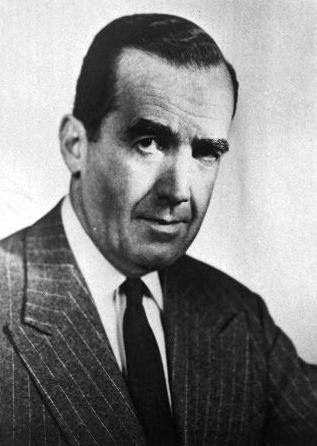 A photograph of Edward Roscoe Murrow. Image from East Carolina University.