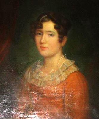 A portrait of James Norcom's wife Mary Matilda Horniblow Norcom  (1778-1850). Image from the North Carolina Museum of History.