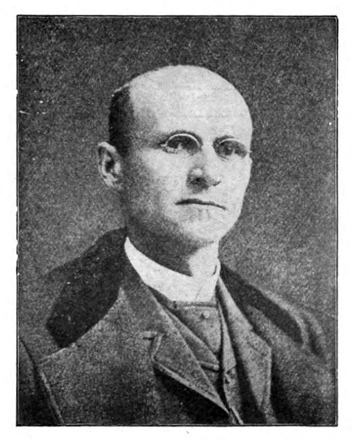 Photograph of Edgar Wilson Nye, from <i>Bill Nye's Sparks.</i> Published 1901, Hurst & Company, New York.  Presented by HathiTrust.