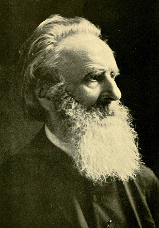 A photograph of Johannes Adam Simon Oertel, from J. F. Oertel's <i>A Vision Realized: A Life Story of Rev. J. A. Oertel</i>, published 1917.