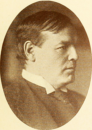 A photograph of James Walker Osborne (1859-1919) published in 1918. Image from the Internet Archive.