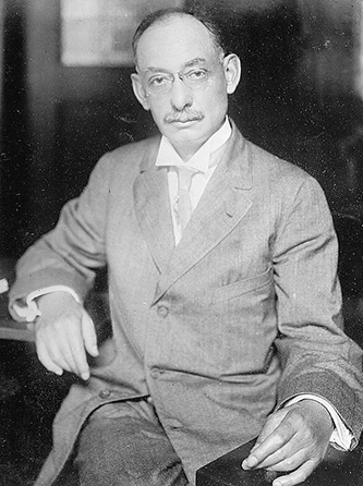 A photograph of Walter Hines Page, circa 1910-1915. Image from the Library of Congress.