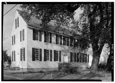 Photograph of the Palmer-Marsh House, Main Street, Bath, North Carolina.  From the Historic American Buildings Survey, Library of Congress Prints & Photographs Online Catalog.