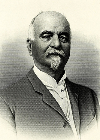 An engraving of Edward James Parrish published in 1917. Image from the Internet Archive / N.C. Goverment & Heritage Library.