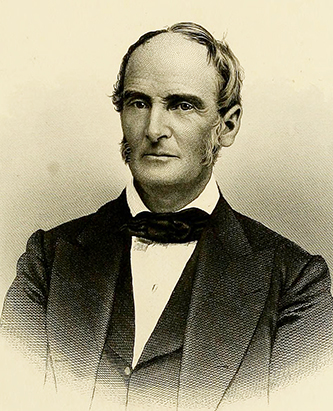 An 1880 engraving of Richmond Mumford Pearson. Image from Archive.org.