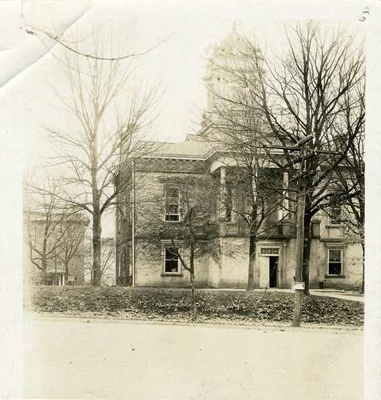 Photograph of the Burke County Courthouse, Morganton, NC, circa 1915. Item #H.19XX.323.67 , from the collections of the North Carolina Museum of History.