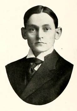Image of Herbert Evans Peele, from The Howler 1908, [p. 36], published 1908 by Winston-Salem, N.C.: Wake Forest University. Presented on Digital NC.