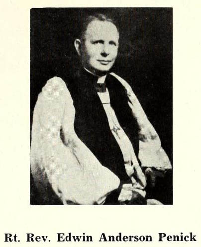 "Image of ""Rt. Rev. Edwin Anderson Penick,"" from Pictorial history of the Episcopal church Church in North Carolina, 1707-1964, [p. XXV], published 1965 by Asheville, N.C. Presented on Internet Archive."
