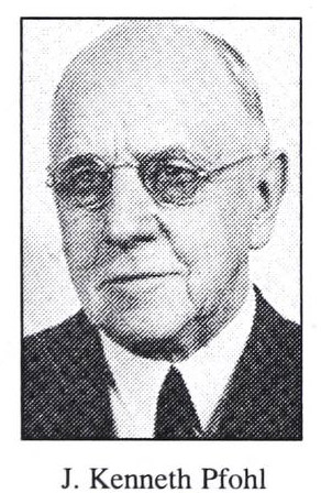 Image of John Kenneth Pfohl, from Christ Moravian Church: one hundred years, [p. 24], published 1997 by Winston-Salem, N.C.: Centennial Committee, Christ Moravian Church. Presented on Internet Archive.