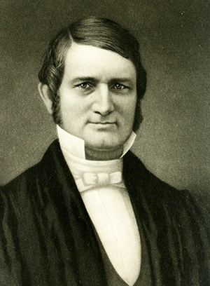 An engraving of Leonidas Polk during his time as missionary bishop of the Southwest. Image from Archive.org.