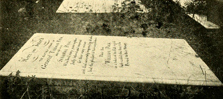 The grave of Thomas Polk in Charlotte. Image from Archive.org.