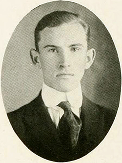 Photograph of William Tannahill Polk from his 1917 college yearbook. Image from Digital NC, University of North Carolina at Chapel Hill.