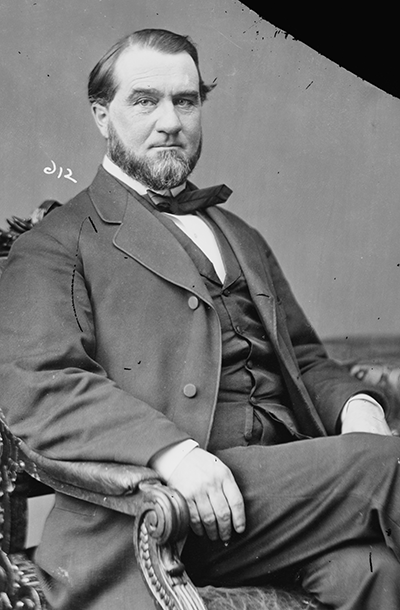 A photograph of Senator John Pool, circa 1860-1875. Image from the Library of Congress.