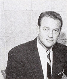 A photograph of radio broadcaster Bob Poole published in 1957. Image from the Internet Archive.
