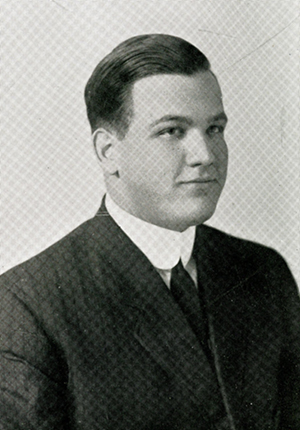 A photograph of Edwin McNeill Poteat, Jr. from his 1912 college yearbook. Image from Furman University.
