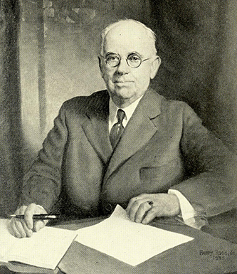 A photograph of a portrait of William Louis Poteat, painted by Henry Rood, Jr. in 1935. Image from the Internet Archive.