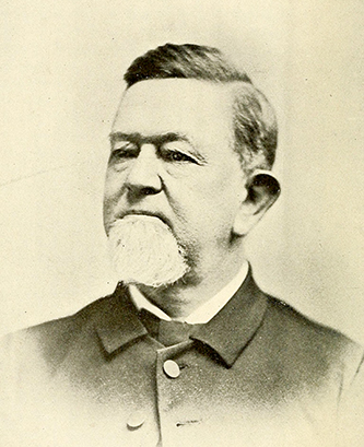 A photograph of Thomas Henderson Pritchard published in 1896. Image from the Internet Archive.
