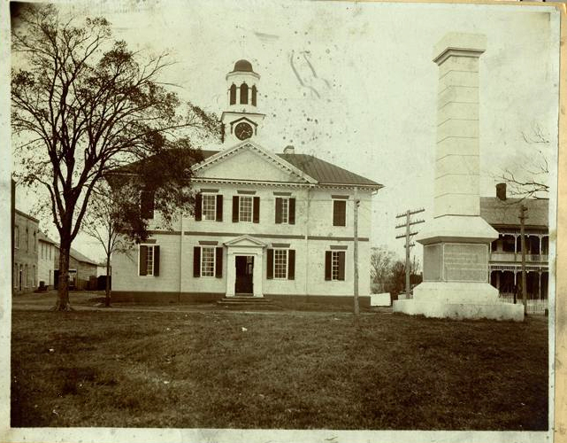 Photograph of the Chowan County Courthouse in Edenton, NC, circa 1900-1920.  William Pruden figured prominently in the court cases of Chowan County and surrounding Albemarle region.  Courtesy of the North Carolina Museum of History.