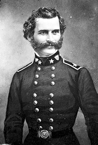 A portrait of Gabriel James Rains in his Union uniform. Image from the Library of Congress.