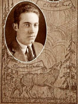 Photograph of Monroe Redden Minor, from the Waker Forest College yearbook <i>The Howler,</i> 1923.  From Archive.org.