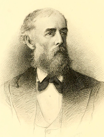An 1876 engraving of William Cornelius Reichel by H.B. Hull. Image from Archive.org.