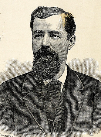 An 1885 engraving of James Wesley Reid. Image from Archive.org.