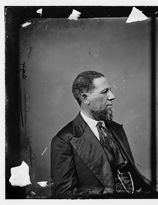 """Hon. Hiram R. Revels of Miss.,"" photograph, 1860-1870. From the Brady-Handy Collection, Library of Congress Prints and Photographs Online Catalog."