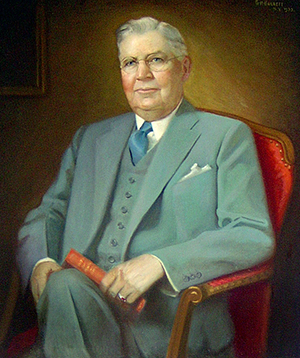 Portrait of William Neal Reynolds by G. H.Barrett, 1933. Image from Duke University.