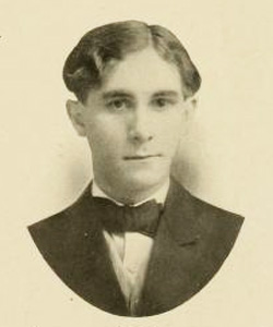 Photograph of William Smith O'Brien Robinson's son, John Mosely Robinson, in the University of North Carolina at Chapel Hill yearbook <i>Yackety Yack 1907.</i>  From DigitalNC.org.