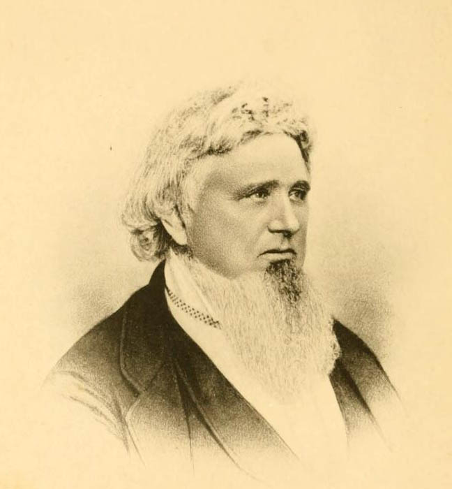 Image of James Ross, from Life and times of Elder Reuben Ross, [opposite of p. 425], published 1882 by Philadelphia, printed by Grant, Faires & Rodgers. Presented on Internet Archive.