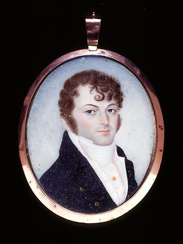 Portrait miniature of Joseph Blount Gregoire Roulhac, circa 1820-1830.  Item H.2001.76.1 from the collections of the North Carolina Museum of History.