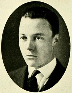 Photograph of William Ruffin Haywood from his 1921 college yearbook. Image from University of North Carolina at Chapel Hill.