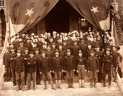 Governor Daniel Lindsay Russell with the 2nd North Carolina Infantry Regiment of U.S. Volunteers, 1898. Image from the North Carolina Museum of History.