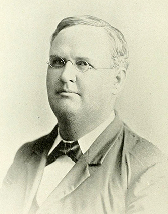 A photograph of George W. Sanderlin published in 1892. Image from the Internet Archive.