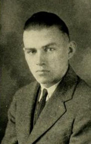 Image of Ralph Henderson Scott, from State University's Agromeck Yearbook, [p.79], published 1924 by Raleigh, N. C. : Student Publication Authority, North Carolina State University. Presented on Internet Archive.