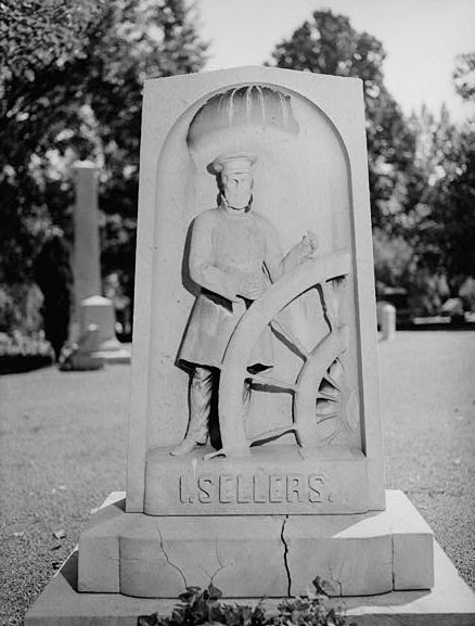 Image of Captain Isaiah Seller's tombstone at Bellefontaine Cemetery in Saint Louis, MO, in 1949, by Paul Piaget. Photo is presented on Library of Congress.