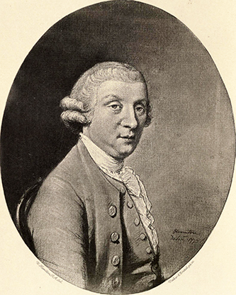 A portrait of George Augustus Selwyn by Hugh Douglas Hamilton, 1770. Image from Archive.org.