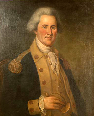 A 1790 portrait of John Sevier by Charles Willson Peale. Image from the Tennessee Portrait Project, National Society of Colonial Dames of America in Tennessee.
