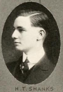 Image of Henry Thomas Shanks, from  The Howler yearbook at Wake Forest College (University), [p.20], published 1917 by 	Wake Forest College (University). Presented on Digital NC.