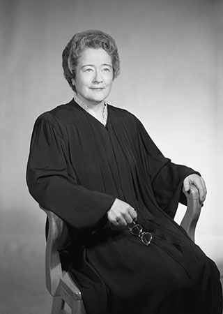Portrait of North Carolina Supreme Court Chief Justice Susie Marshall Sharp. From the Waller Collection, PhC.14, collection of the State Archives of North Carolina. Used with permission.