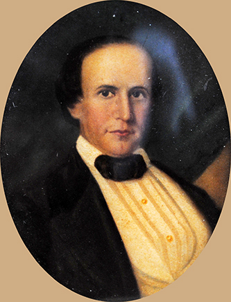A miniature portrait of James Biddle Shepard. Image courtesy of Tryon Palace.