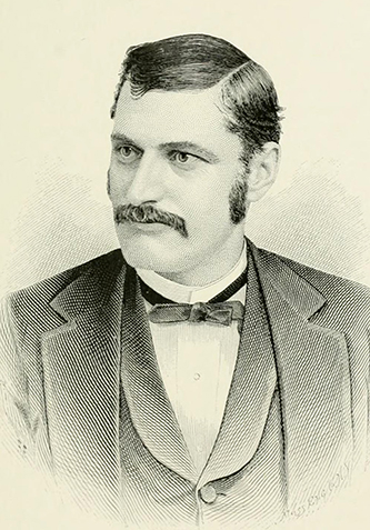 An engraving of Harry Skinner (1855-1929) published in 1892. Image from the Internet Archive.