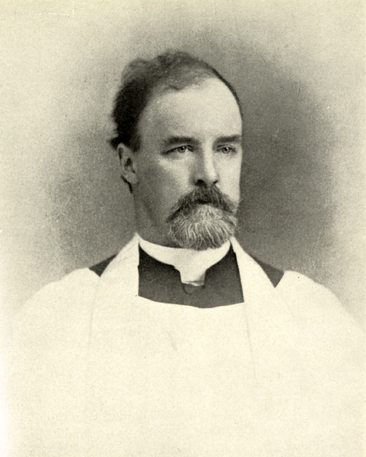 Portrait of the Reverend Bennett Smedes, Rector of St. Mary's 1877-1899.  From <i>Life at Saint Mary's</i>, p. [130-131] Katherine Batts Salley ed., published 1942, University of North Carolina Press. From the collections of the Government & Heritage Library, State Library of North Carolina.