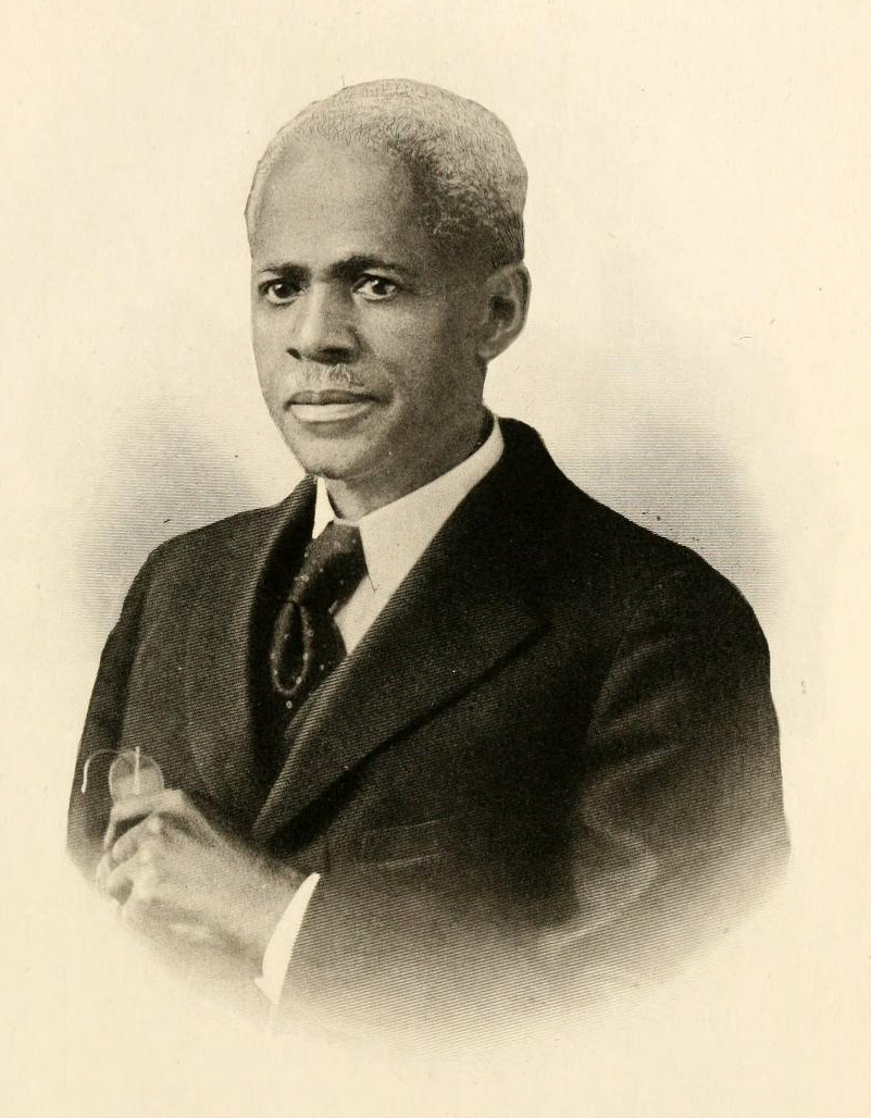 Portrait of E. E. Smith, from Arthur B. Caldwell's <i>History of the American Negro and His Institutions</i>, p. 270, published 1917, A. B. Caldwell Publishing Co., Atlanta, GA.  Presented on Archive.org.