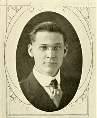 Senior portrait of H. Shelton Smith, from the Elon College yearbook the <i>Phi  Psi Cli</i>, 1917, p. 37, published by the Senior Class of Elon College, Elon, NC. Presented by DigitalNC.