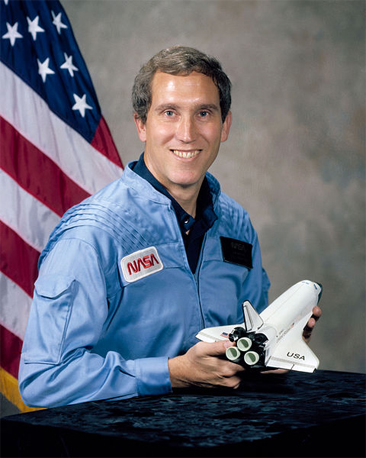 Portrait of Captain Michael J. Smith, NASA.  From Biographical Data, National Aeronautics and Space Administration.
