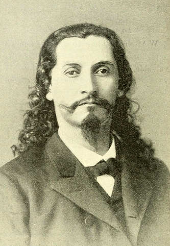 A photograph of Nimrod Jarrett Smith published in 1892. Image from the Internet Archive.