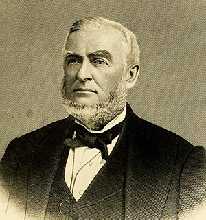 An 1880 engraving of Chief Justice William Nathan Harrell Smith. Image from Archive.org.