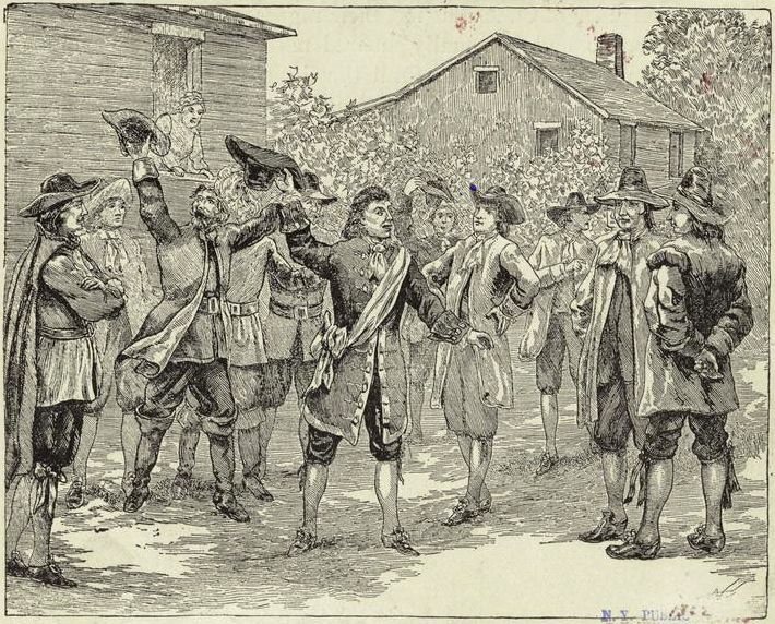 Illustration of Sothel entering Charleston from an 1890 history book. Image from the New York Public Library.