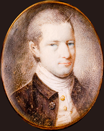 A miniature portrait of a young John Wright Stanly. Image from Tryon Palace.